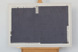 049 Japońska, z cyklu Recycled News, 2006, akwarela, 9 x 64 x 89 cm