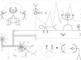 Grafika Rafała Żarskiego, której fragment posłużył jako identyfikacja wizualna całej wystawy, jest czarno-biała i stanowi przykład tzw. grafiki wektorowej tworzonej komputerowo. Na białym tle rozmieszczone są czarne, symboliczne, geometryczne rysunki postaci tworzące umowny schemat mechanizmów rządzących współczesnymi systemami projektowymi.